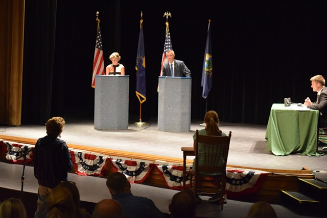 Democrat Sue Minter and Republican Phil Scott - TERRI HALLENBECK