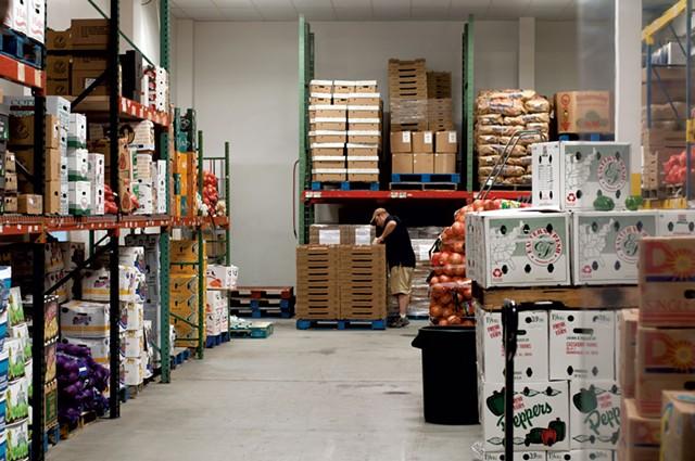 Inside the Upper Valley Produce warehouse - HANNAH PALMER EGAN