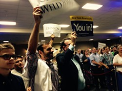 Supporters at the Gary Johnson rally - MOLLY WALSH