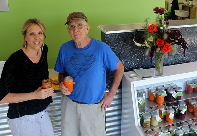 Sheri Bannister and her father, David Bedard - COURTESY OF JUICE AMOUR