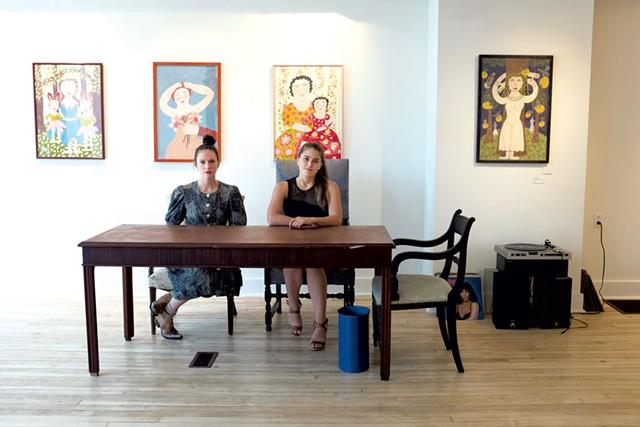 Sophie Pickens, left, and Justine Jackson - CALEB KENNA