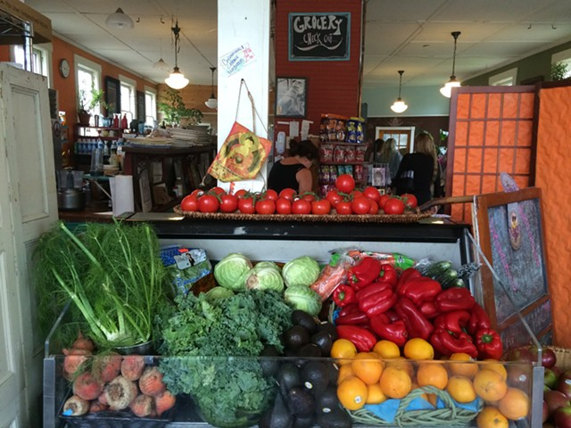 Local and organic produce at Moon Dog Café - JULIA CLANCY