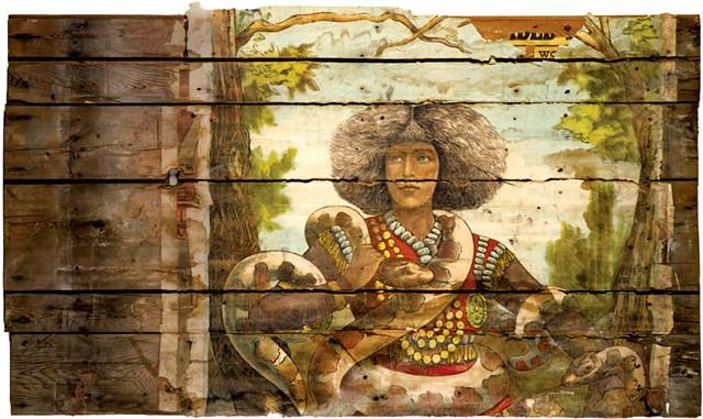 """""""Nala Damajante: Snake Charmer,"""" maker unknown - COURTESY OF SHELBURNE MUSEUM"""