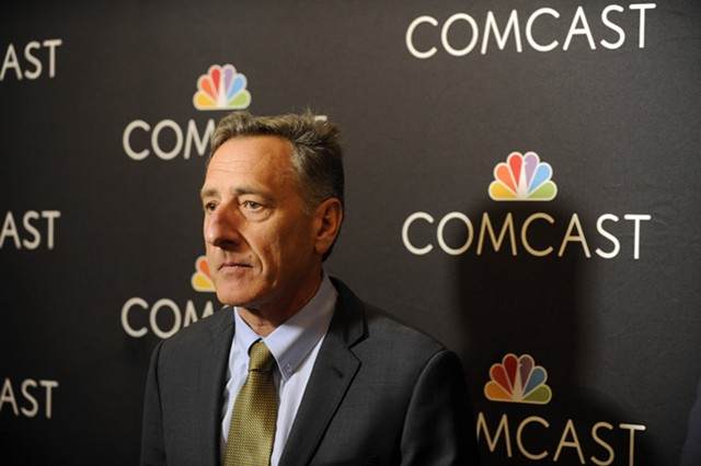 Gov. Peter Shumlin in March 2015. Comcast has donated thousands of dollars to Shumlin and the Vermont Democratic Party. - FILE: JEB WALLACE-BRODEUR