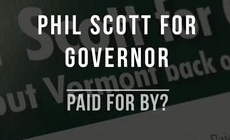 A Vermont Democratic Party website targeting Lt. Gov. Phil Scott - SCREENSHOT