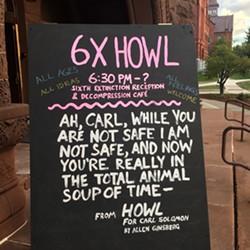 """""""6X HOWL"""" sandwich board - RACHEL JONES"""