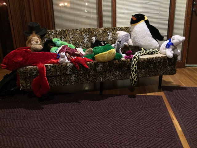 """""""Stuffed Animal Therapy Couch"""" by Stella Marrs - RACHEL JONES"""