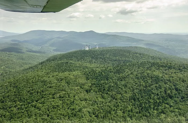 The Green Mountain Forest area, near an existing Searsburg wind project, where a 15-turbine project is planned. - COURTESY VERMONTERS FOR A CLEAN ENVIRONMENT