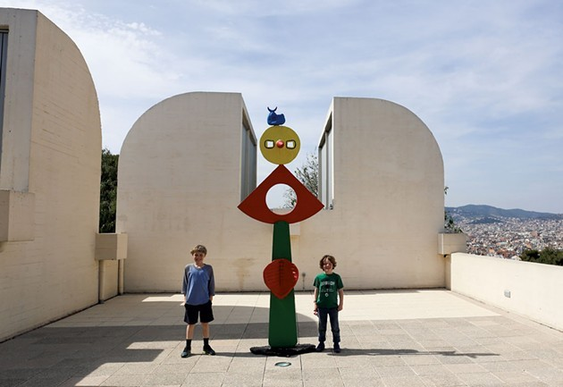 Damien and Amos at Joan Miró Fundació - CARIN LILLY