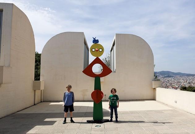 Damien and Amos at Joan Miró Fundació - CARIN LILLY