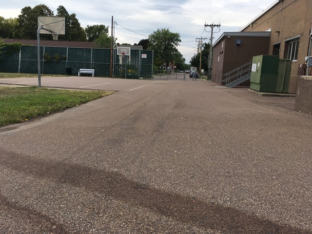 The location behind the O'Brien Community Center where police shot and killed 29-year-old Jesse Beshaw. - MARK DAVIS