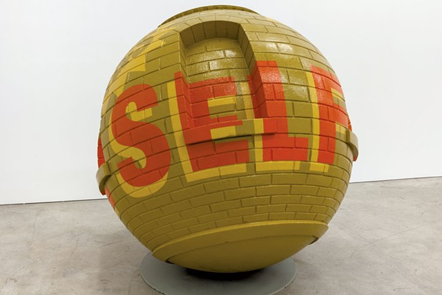 """T&S Self Storage Warehouse First Month Free Ball"" by Lars Fisk - COURTESY OF MARLBOROUGH CHELSEA"