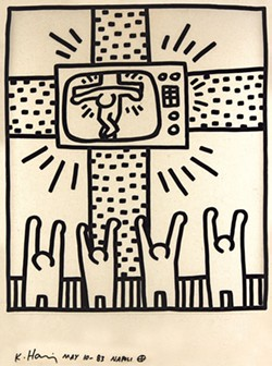 """""""Untitled"""" by Keith Haring - COURTESY OF FLEMING MUSEUM OF ART"""