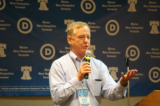 Former governor Howard Dean at the Democratic National Convention in Philadelphia - FILE: PAUL HEINTZ