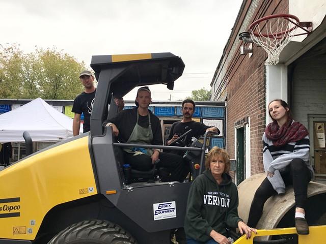 Volunteers and coordinators, left to right: Clark Derbes, Noah Lagle, Derek Proulx, Mo Aveno, Mary Aveno - SADIE WILLIAMS