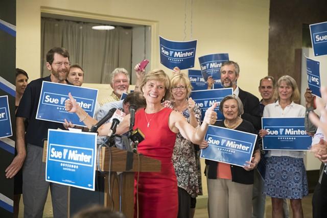 Democratic gubernatorial nominee Sue Minter - JAMES BUCK/FILE