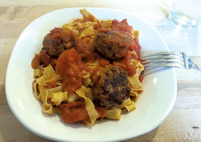 Pasta with meatballs - COURTESY OF PHILAMENA'S
