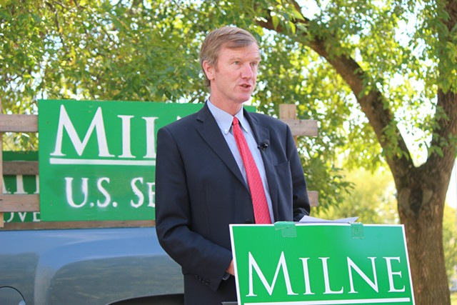 Scott Milne last month in South Burlington - FILE: PAUL HEINTZ