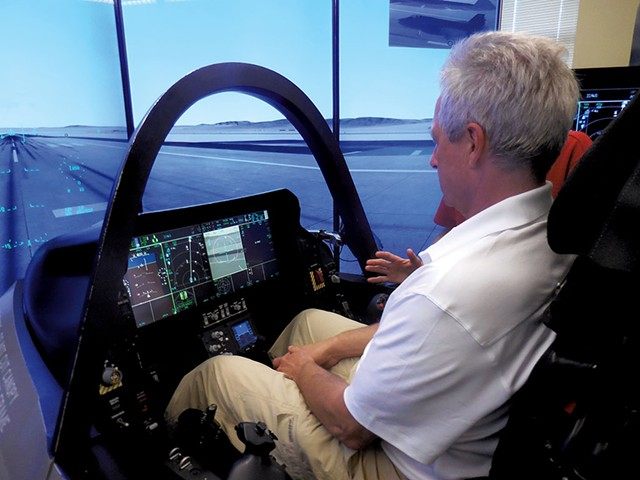 Adam L. Alpert in F-35 simulator - COURTESY OF ADAM L. ALPERT