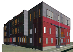 A rendering of the proposed building - COURTESY: G V V ARCHITECTS