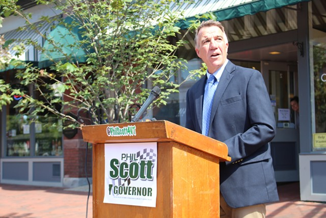 Lt. Gov. Phil Scott in September - FILE: PAUL HEINTZ