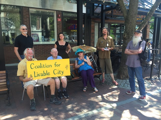 Members of the Coalition for a Livable City, pictured in July - SASHA GOLDSTEIN