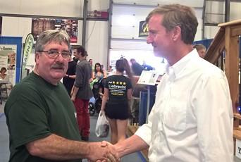 Republican House candidate Patrick Liebrecht and U.S. Senate candidate Scott Milne - COURTESY: PAT4VT.COM/