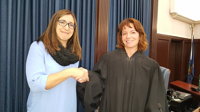 Maria Fears with Judge Christina Reiss - COURTESY: ANITA MOORE