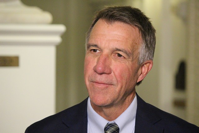 Governor-elect Phil Scott Wednesday at the Statehouse - PAUL HEINTZ