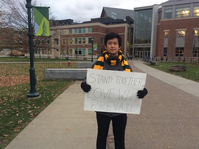 UVM freshman Isaac Lee - ALICIA FREESE