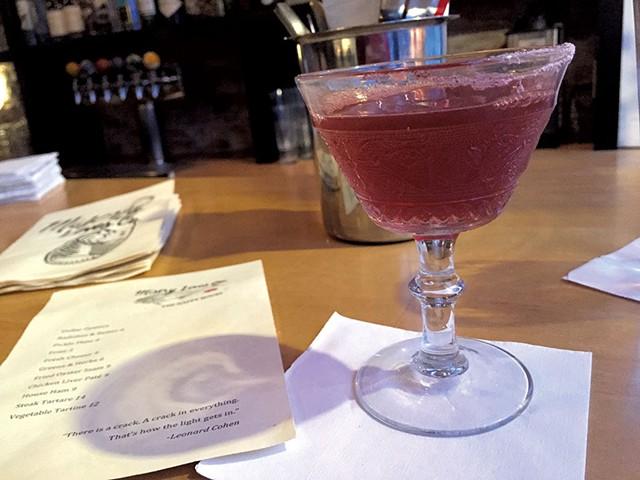 Sassamanash cocktail at Misery Loves Co.
