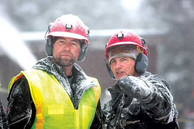 Snowmakers at Killington - COURTESY OF CHANDLER BURGESS