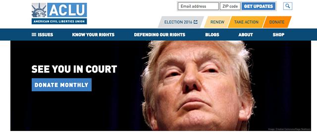 The ACLU's website