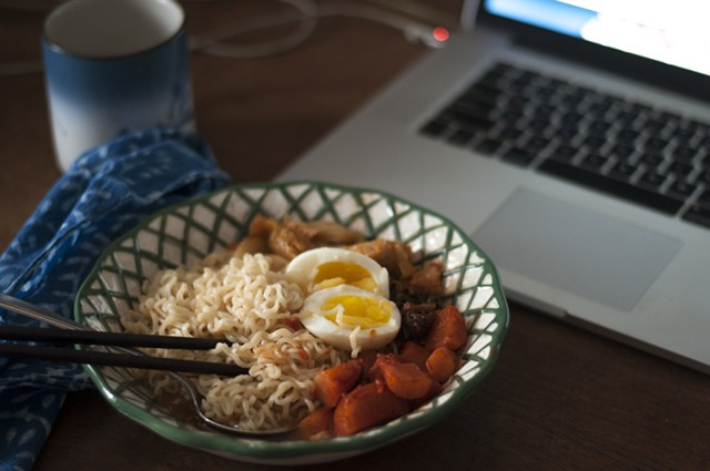 Breakfast ramen with kimchi and egg - HANNAH PALMER EGAN