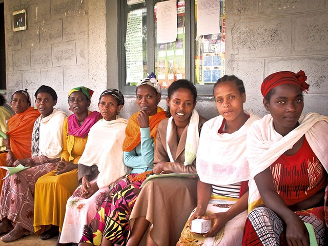 Wo men waiting to be screened in Ethiopia - COURTESY OF GROUNDS FOR HEALTH