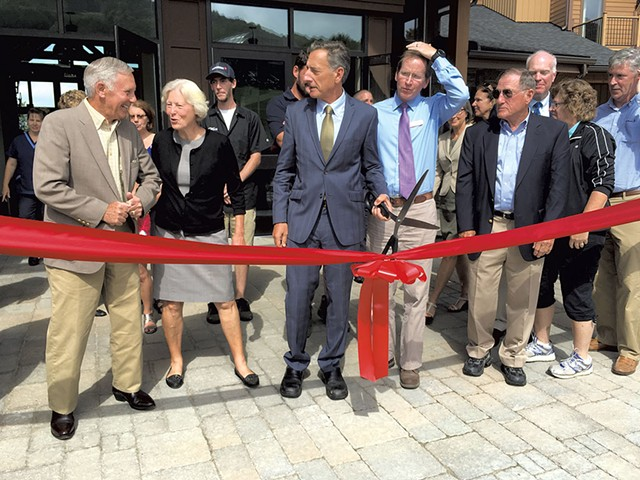 Gov. Shumlin at the opening ceremony - MARK DAVIS