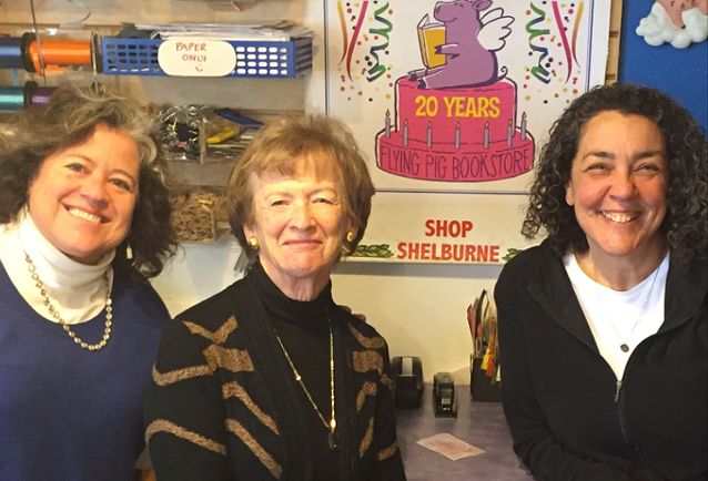 Elizabeth Bluemle, Darrilyn Peters and Josie Leavitt at Flying Pig Bookstore - SANDY FIRST