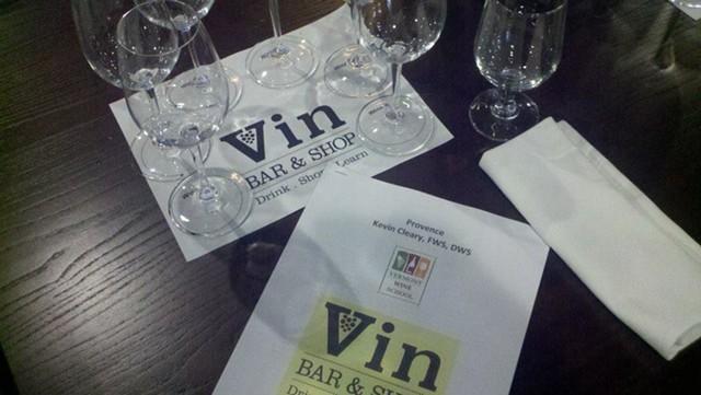 Wine tasting at Vin Bar & Shop in Burlington - VIN BAR & SHOP