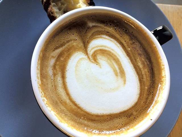 Cappuccino at Dispatch Coffee - SUZANNE PODHAIZER