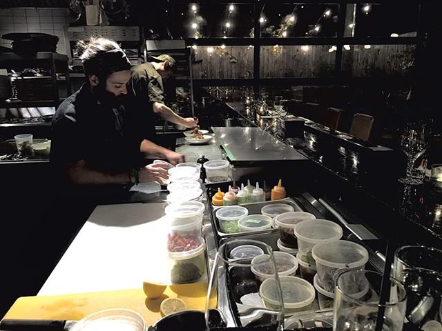 Kitchen staff at Restaurant Manitoba - SUZANNE PODHAIZER