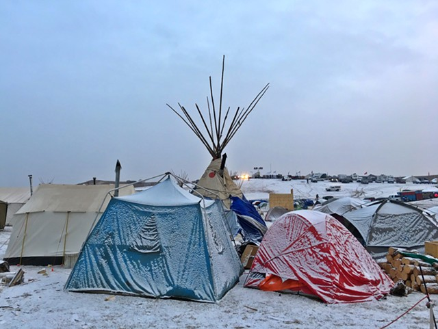 Oceti Sakowin Camp, November 24, 2016 - COURTESY OF AVI SALLOWAY