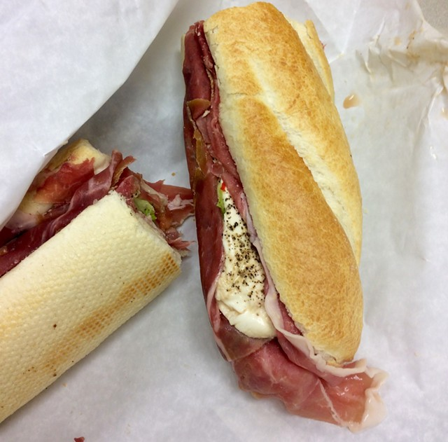 "The ""Soprano"" sub at Costello's Market - JULIA CLANCY"