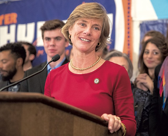 Sue Minter on election night - JAMES BUCK
