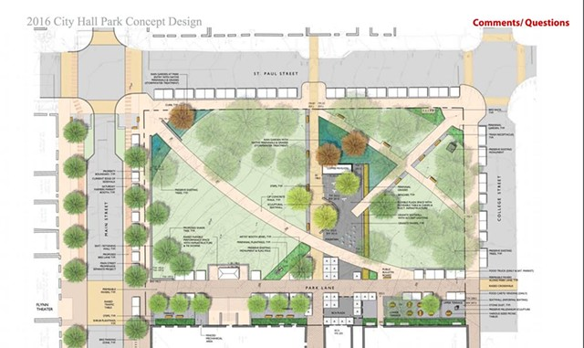 City Hall Park design - COURTESY CITY OF BURLINGTON