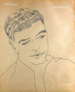 """""""Untitiled (Portrait of a Young Man)"""" by Andy Warhol"""