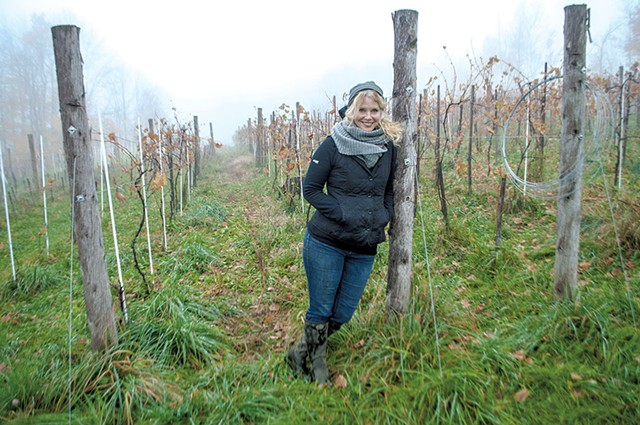 Deirdre Heekin in her Barnard vineyard - FILE: HANNAH PALMER EGAN