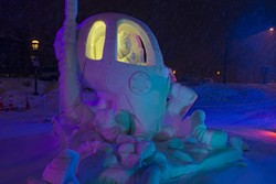 Rhonda and Her Recycling Robo-Octopus, Team Vermont's winning snow sculpture - COURTESY OF CARL SCOFIELD