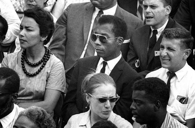 James Baldwin (center) in I Am - Not Your Negro by Raoul Peck - COURTESY OF VERMONT INTERNATIONAL FILM FOUNDATION