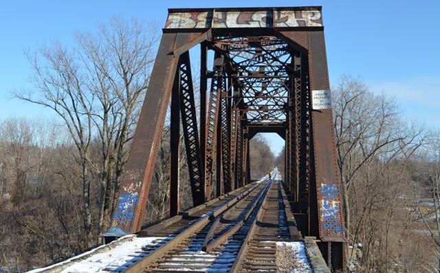 The railroad bridge off Intervale Road in Burlington - MARK DAVIS