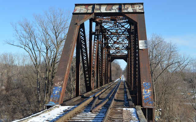The railroad bridge off Intervale Road in Burlington - MARK DAVIS